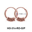 Silver Hoop Earrings with Rings HO-31n