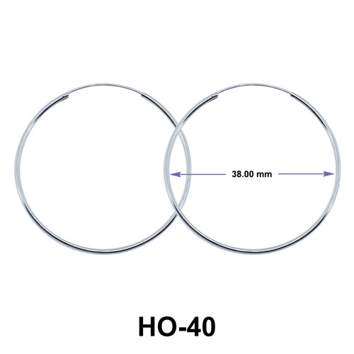 Sleek Hoop Earrings HO-40
