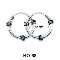3 Knots Design Hoop Earrings HO-68
