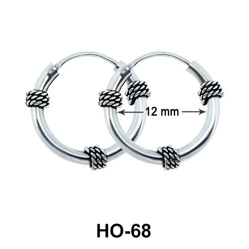 3 Knots Design Hoop Earrings HO-68