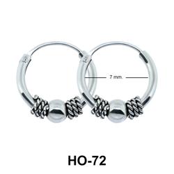 Rope n Ball Hoop Earring HO-72