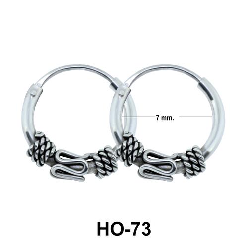 Rope n Snake Design Hoop Earring HO-73