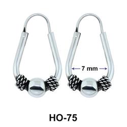 Rope n Ball Hoop Earrings HO-75