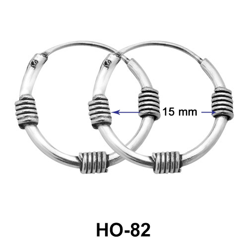 15mm Ropy Design Hoop Earrings HO-82