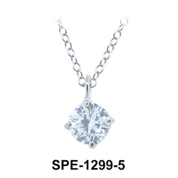 CZ Silver Pendants SPE-1299-5