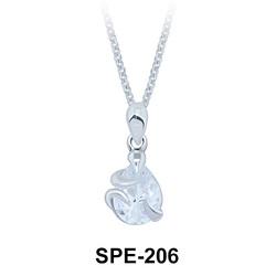 Pendant Silver CZ Drop SPE-206