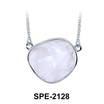 Rose Quartz Pendant Silver SPE-2128