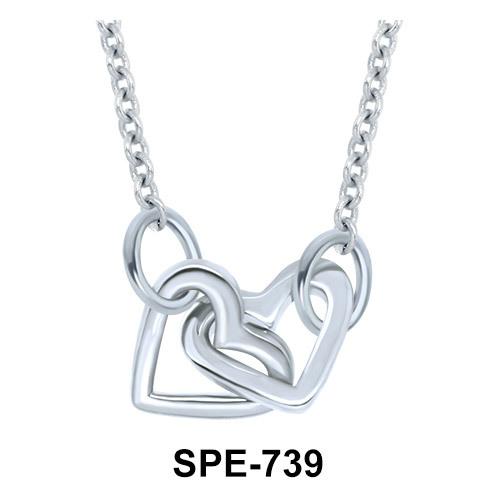 Dual Intertwined Heart Pendants Line SPE-739