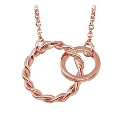 Rose Gold Plated Silver Pendants Line SPE-746-RO-GP