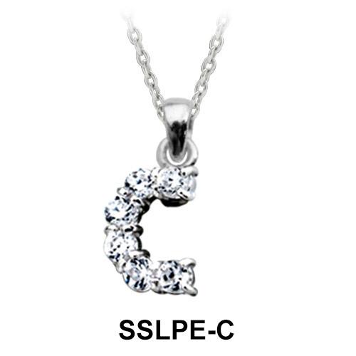 Pendant Silver C Shape SSLPE-C