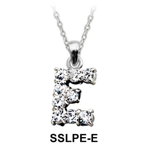 Pendant Silver E Shape SSLPE-E
