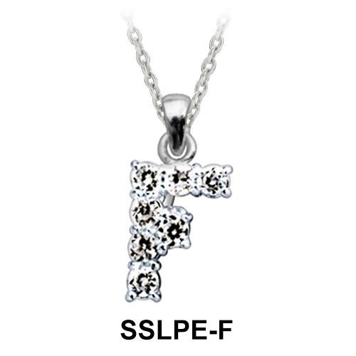 Pendant Silver F Shape SSLPE-F