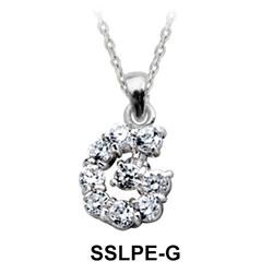 Pendant Silver G Shape SSLPE-G