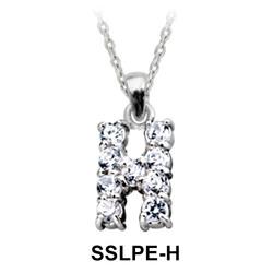 Pendant Silver H Shape SSLPE-H