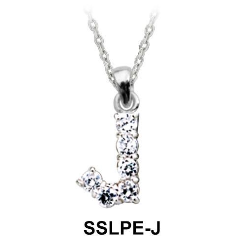 Pendant Silver J Shape SSLPE-J