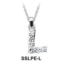 Pendant Silver L Shape SSLPE-L