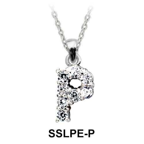 Pendant Silver P Shape SSLPE-P