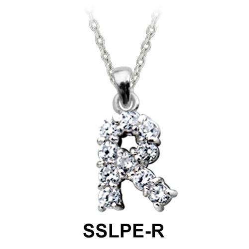 Pendant Silver R Shape SSLPE-R