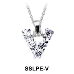 Pendant Silver V Shape SSLPE-V