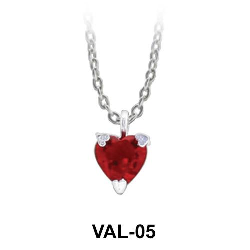Pendant Silver Pretty Heart VAL-05