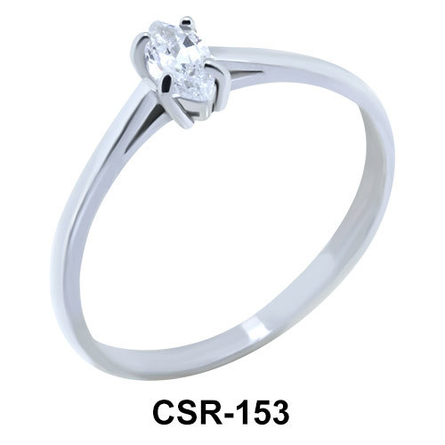 Silver Ring Oval Stone CSR-153