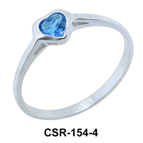 Silver Ring Little Heart 4mm. CSR-154-4