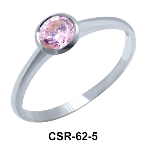Rhinestone Silver Ring CSR-62-5mm