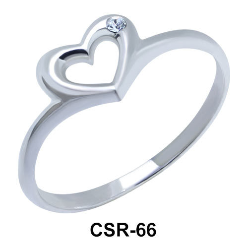 Silver Ring Cutie Heart CSR-66