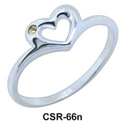 Design Heart Silver Ring CSR-66n