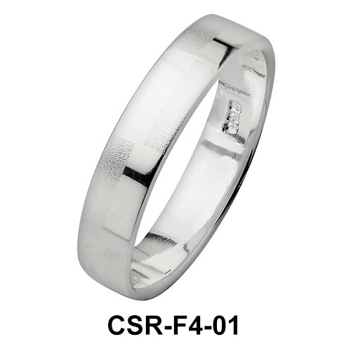 Silver Rings Simply Checkers CSR-F4-01