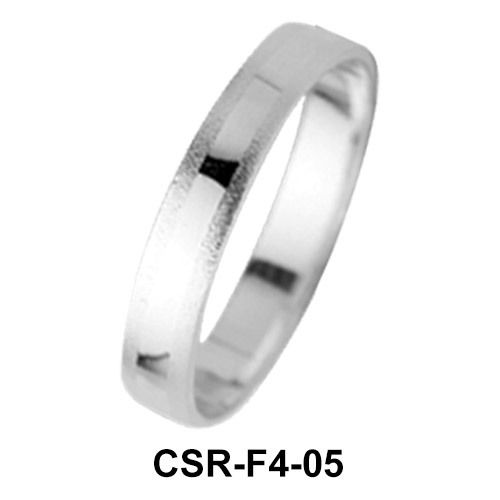 Silver Rings Mixed Surfaces CSR-F4-05