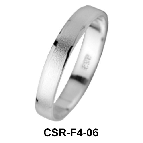 Silver Rings Mixed Surfaces CSR-F4-06