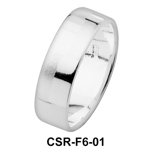 Silver Rings Simply Checkers CSR-F6-01