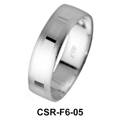 Silver Rings Mixed Surfaces CSR-F6-05