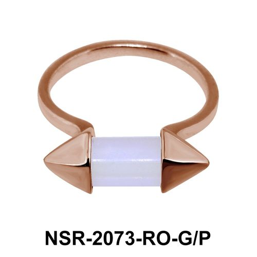 Rose Quartz Silver Rings NSR-2073