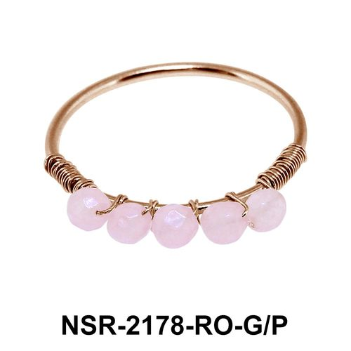 Rose Quartz Silver Rings NSR-2178