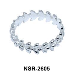 Olive leaves Silver Ring NSR-2605