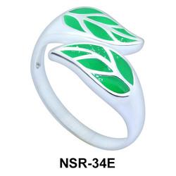 Silver Rings Couple Leaves NSR-34E