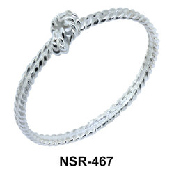 Twisted Knot Silver Ring NSR-467