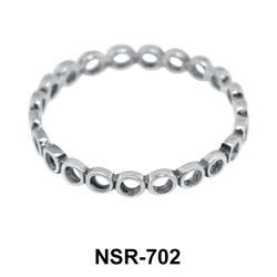 Hollow Circle Silver Ring NSR-702