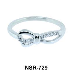 Shining Ribbon Silver Ring NSR-729