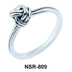 Dainty Knotted Silver Ring NSR-809