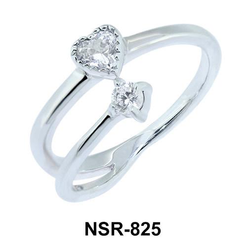 Sweet Heart CZ Design Ring NSR-825