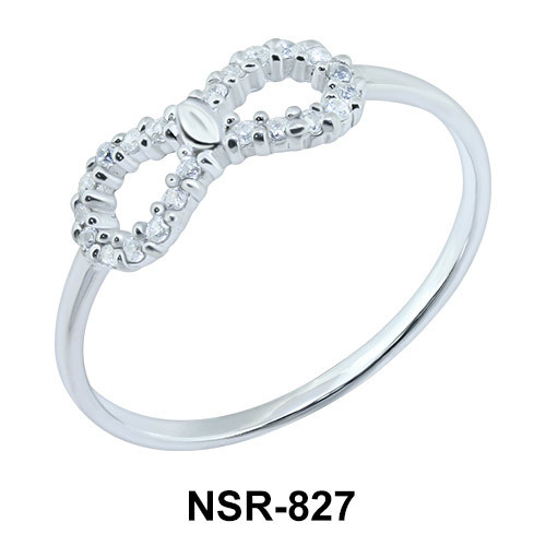 Lovely Bow Silver Ring NSR-827