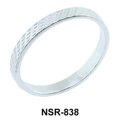 Unique Pattern Silver Ring NSR-838