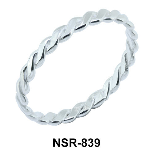 Knot Weave Silver Ring NSR-839