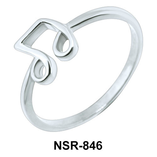 Music Note Silver Ring NSR-846