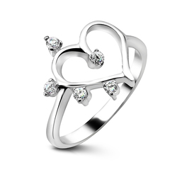 Heart Shaped Silver Ring CSR-49