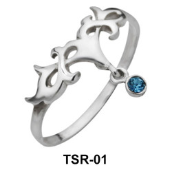 Inverted Crown Shaped Silver Ring TSR-01
