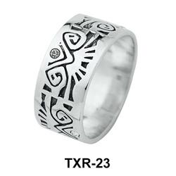 Elaborate Patterns Silver Ring TXR-23